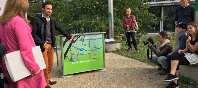 Feierliche Eröffnung der Empa- und Eawag-Erlebnisstationen bei schönstem Herbstwetter
